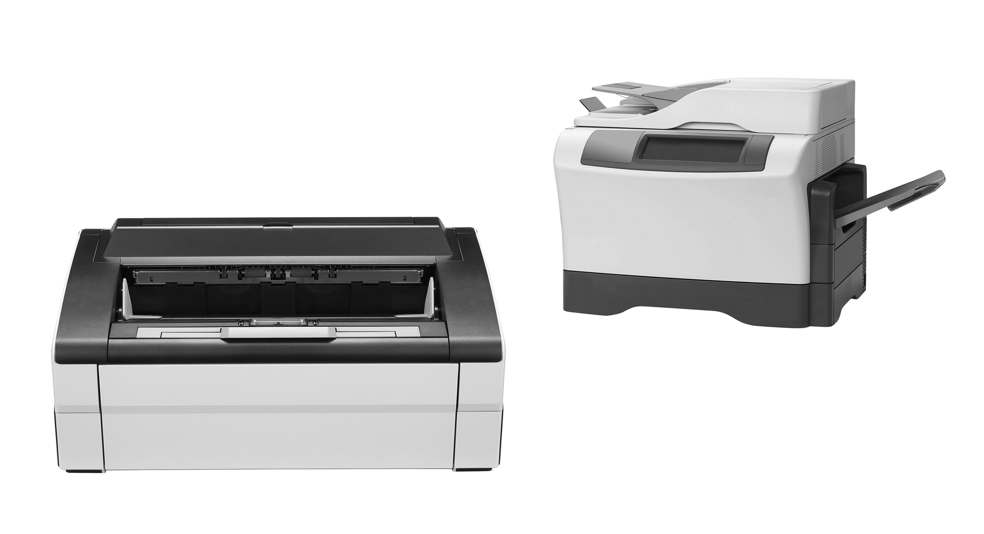 Two Printers isolated