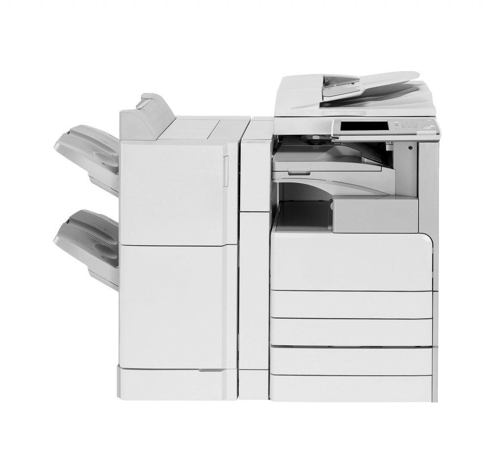 multifunction laser printer isolated